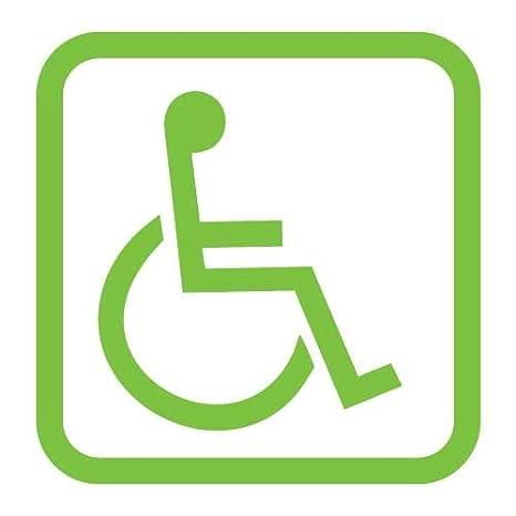 Amazon.com: Handicap Disabled Wheelchair Symbol Vinyl Sticker Decal-Green-18 Inch: Garden & Outdoor