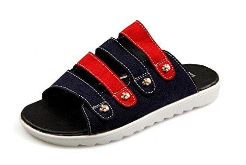 Casual red Open Zapatos Flip Flops Verano Playa Toe Zapatillas Sandalias GLTER Nueva 8wzP8q
