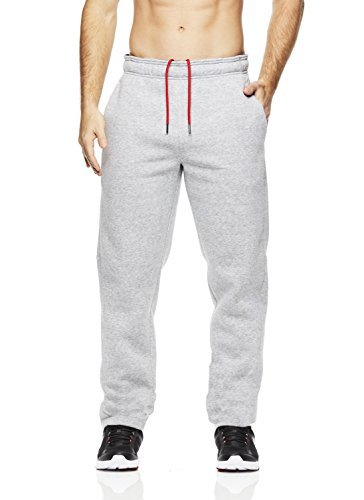 (Reebok Men's High Impact Pant - Poly/Cotton Grey Heather XL slim)