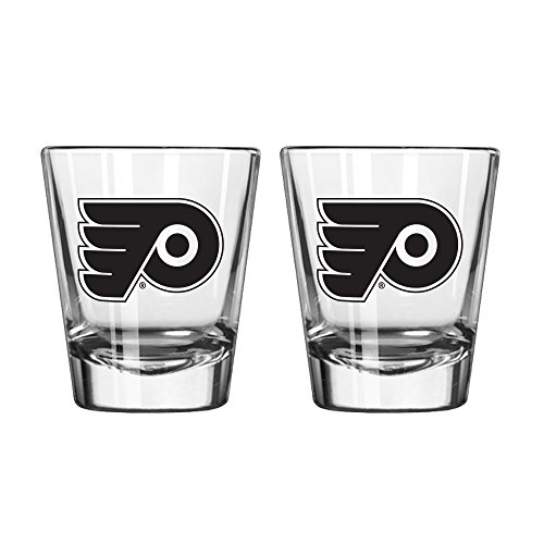 NHL Philadelphia Flyers Game Day Shot Glass, 2-ounce, 2-Pack