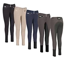 Equine Couture Women's Blakely Full Seat Breech with Contrast Saddle Stitch
