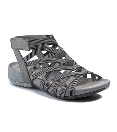 (BareTraps Womens Sammie Open Toe Casual Ankle Strap Sandals, Black, Size 5.5)