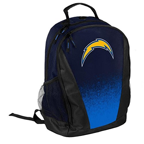 FOCO NFL Los Angeles Chargers Logo Gradient Print Primetime Deluxe Backpack, Team Color, Standard by FOCO