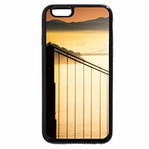 iPhone 6S / iPhone 6 Case (Black) bridges in a yellow fog
