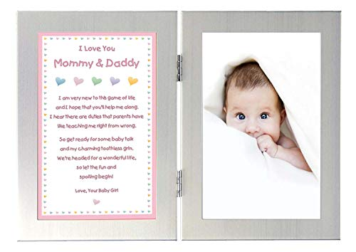 - New Parents Gift, Let The Fun Begin Baby Girl Poem - Add Photo