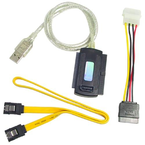 USB 2.0 to IDE SATA 5.25 S-ATA/2.5/3.5 Adapter Cable (2.5 Ide Drive)
