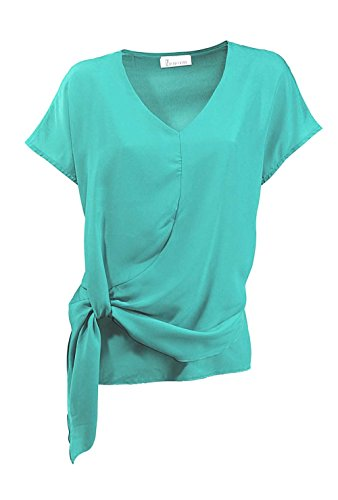 Z Turquesa Zucchero Asimétrico By Opaco Mujer Para Camisas fHBgpqnf