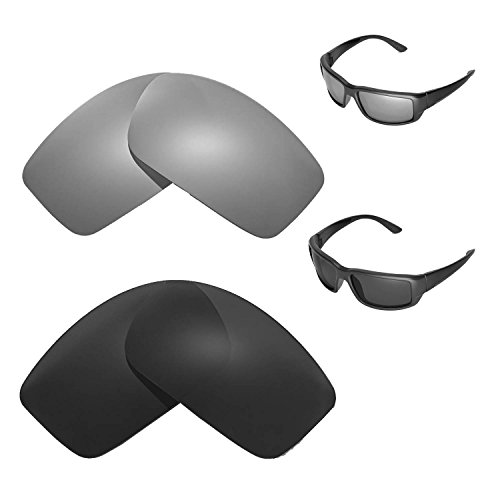 Walleva Polarized Titanium + Black Replacement Lenses for Costa Del Mar - Mar Z87 Del Costa
