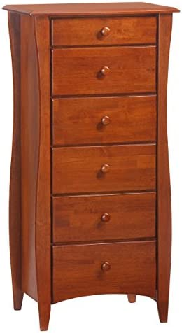 Night Day Furniture 6 Drawer Clove Lingerie Chest in Cherry Finish