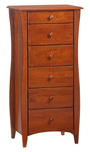 Night & Day Furniture 6 drawer Clove Lingerie Chest in Cherry Finish