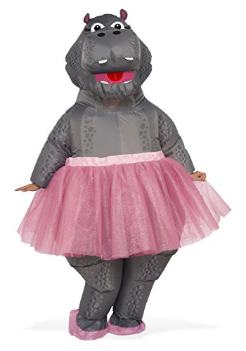 Ballerina Costume Adults (Rubie's Inflatable Hippo Adult Costume, As Shown, One)