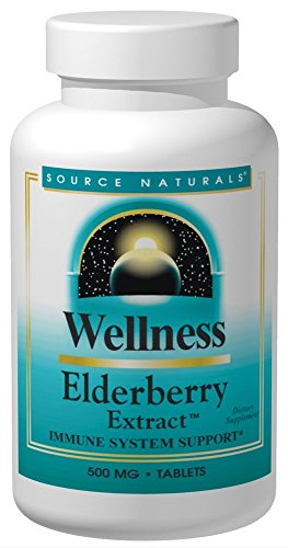 Source Naturals Wellness Elderberry Extract, Immune System Support 120 Tablets (Source Elderberry Naturals Extract)
