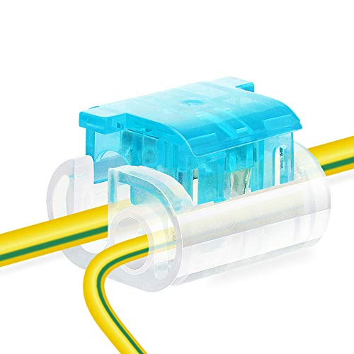 Baysedy Wire Connectors, Stripping Free For Joint Electrical Wire Terminals, Quick Splice Wire Wiring Connectors for AWG 14-20, Main-Branch Terminals 6pcs