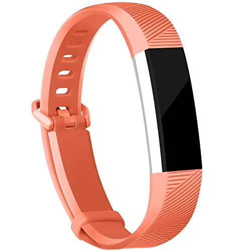 Places Springs Coral (iGK Replacement Bands Compatible for Fitbit Alta and Fitbit Alta HR, Newest Adjustable Sport Strap Smartwatch Fitness Wristbands Coral Large)