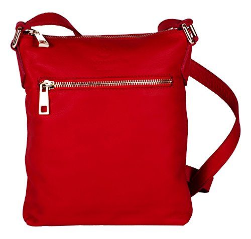 Moretti Hand Bag Leather Women Monza For Fashion Milano Red rfwAnH7qr