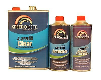 SpeedoKote SMR-100-M - 2.1 low voc Extremely Fast Clear Coat, 4:1 mix Clearcoat Med Gallon Kit