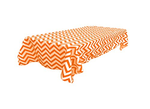 60x102 Polka Dot, Checkered and Chevron Tablecloths for Rectangular Tables Available. (Orange -