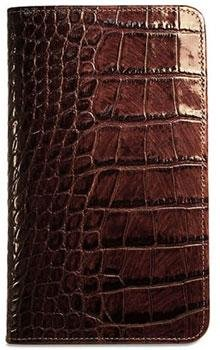 Jack Georges Croco Collection Breast Secretary Men-Brown, Bags Central