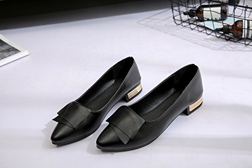 Ultra Black Flat Footwear yalanshop Single Tide The Tip Women Light With Leather Shoes Soft Casual Flat Shoes 36 1wzw5xaHqn