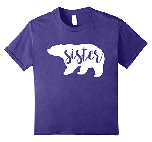 Kids Sister Bear Funny Family Matching Shirts Set Costume 10 (Big Sister Little Brother Halloween Costume Ideas)