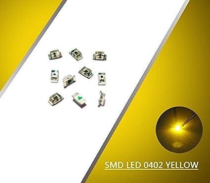 0402Y 100pcs SMD LED 0402 Yellow LEDs Everest NEW -CN#b4err4
