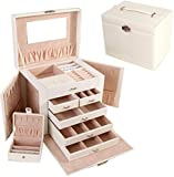 European Princess Portable Jewelry Box - White & Pink