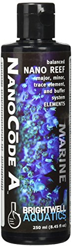Brightwell Aquatics ABANCA250 Nanocode A Liquid Salt Water Conditioners for Aquarium, 8.5-Ounce