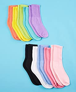 10-Pair Diabetic Socks , Women's Multicolor Set