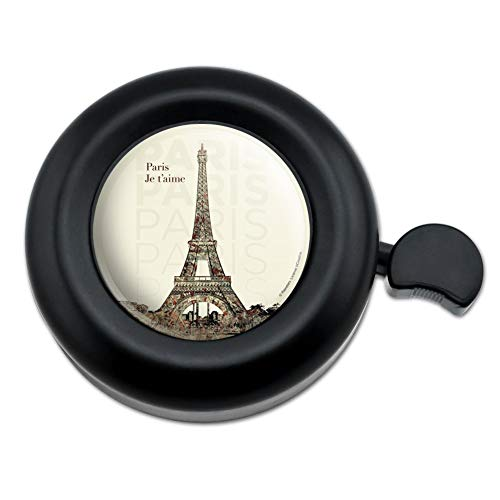 Graphics and More Paris, je T'Aime I Love You Eiffel Tower City Map Bicycle Handlebar Bike Bell