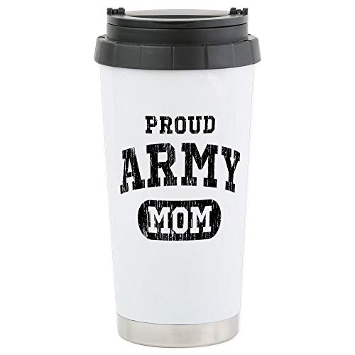 (CafePress Proud Army Mom Stainless Steel Travel Mug Stainless Steel Travel Mug, Insulated 16 oz. Coffee Tumbler)