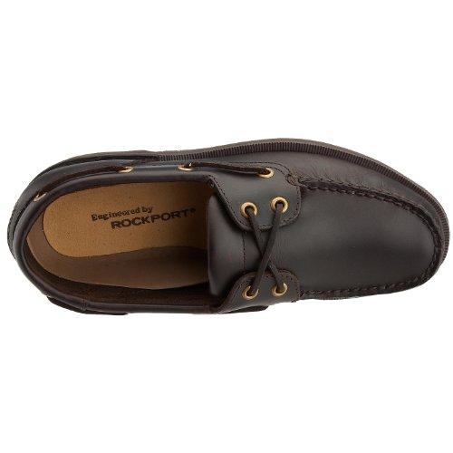 Rockport PERTH - Náuticos de cuero para hombre, marrón, 44 EU Marrón (Dark Brown)