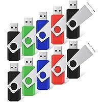 RAOYI 10 Pack 8GB Swivel USB Flash Drive Metal Thumb...