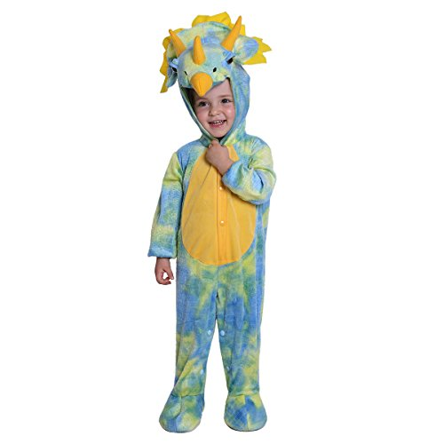 JFEELE Halloween Triceratops Dinosaur Costume for Baby Boys and Girls - Toddler Cosplay Theme Party Dress Up Outfit  (12 To 18 Months) ()