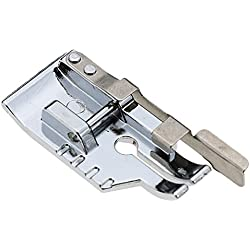 1/4''(Quarter Inch) Quilting Patchwork Sewing Machine Presser Foot with Edge Guide for All Low Shank Snap-On Singer, Brother, Babylock, Euro-Pro, Janome, Juki, Kenmore, New Home, White, Simplicity