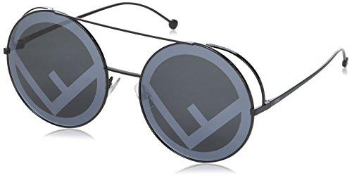Fendi FF0285/S 807 Black FF0285/S Round Sunglasses Lens Category 3 Lens Mirrore from Fendi