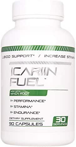 Icariin Fuel Male Enhancing Pills (1 Month Supply) - Enlargement Booster for Men Increase Size, Strength, Stamina - Energy, Mood, Endurance Boost All Natural Performance Supplement Manufactured in USA