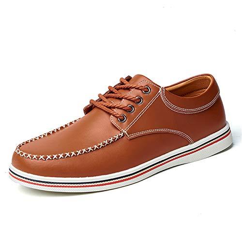Xujw-shoes, 2018 Scarpe Stringate Basse Scarpe da uomo d'affari da uomo, casual comode semplici scarpe da cerimonia inglesi moda morbide (Color : Blu, Dimensione : 41 EU) Marrone