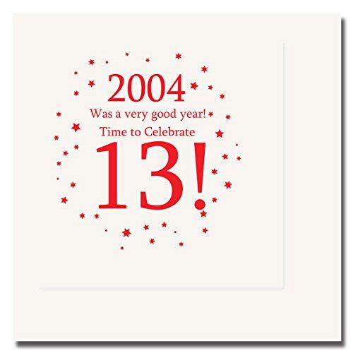 2004 - 13TH BIRTHDAY LUNCHEON NAPKIN (13th Birthday Plates)