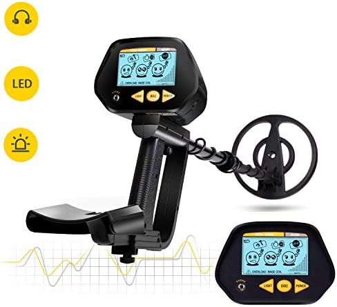 INTEY Metal Detector with Waterproof Search Coil, High Precision, LCD Screen with Headphone Jack, DISC Mode for Detecting Gold, Beach Treasure – Perfect Gift