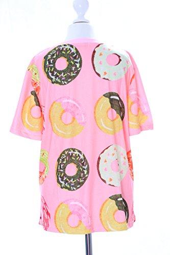 Kawaii-Story T-54 Sweet Donuts rosa bunt T-Shirt Pastel Goth Lolita Japan Harajuku