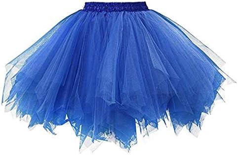 Ksnnrsng - Falda tutú de Tul para Mujer de los años 50, Azul Real ...