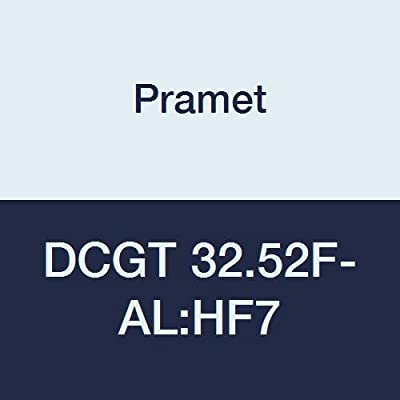 "Pramet DCGT 32.52F-AL:HF7 Carbide Aluminum (N20) Indexable Turning Insert, High Positive, Fine Finishing-Roughing, 0.031"" Radius, 55 Degree Diamond (Pack of 10)"