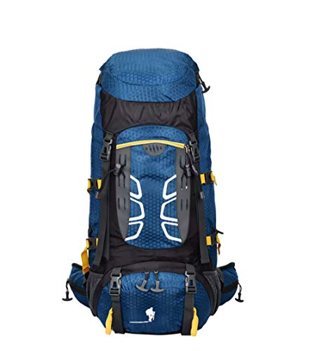 WuJiPeng Männer Und Frauen Outdoor-Reiserucksack Mehrzweck- Bergsteigen Abenteuer Rucksack 56-75L Wasserdicht