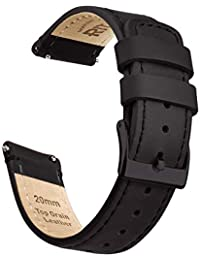 Quick Release Leather Watch Band Top Grain Leather Watch Strap 18mm, 20mm or 22mm for Men