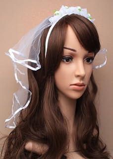 NEW LADIES NET VEIL ON HAIR BAND-HEN�S HEAD DRESS-FOR FANCY DRESS FOR HEN NIGHTS