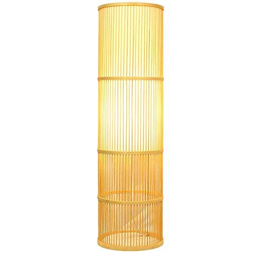 Living Room Coffee Table Floor Lamp Bedroom Bedside Study Tea Room Yoga Bamboo Light Floor Uplight Lamp (Color : A)