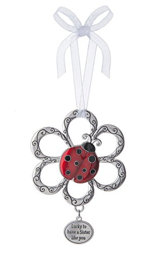 - Lucky to Have a Sister Like You Ladybug Ornament - By Ganz