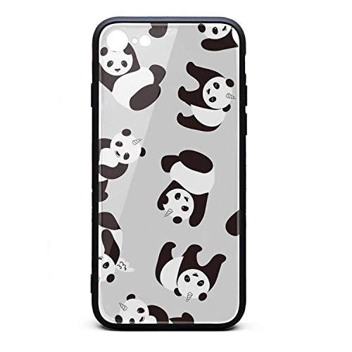 (Pandas Unicorn iPhone 7,iPhone 8 Phone case - Full Protective Anti-Scratch Resistant Cover Case)