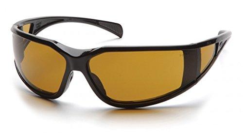 (12 Pair) Pyramex SB5133DT Exeter Safety Glasses Black w/ Shooter's Amber Lens (Safety Pyramex Exeter Glasses)