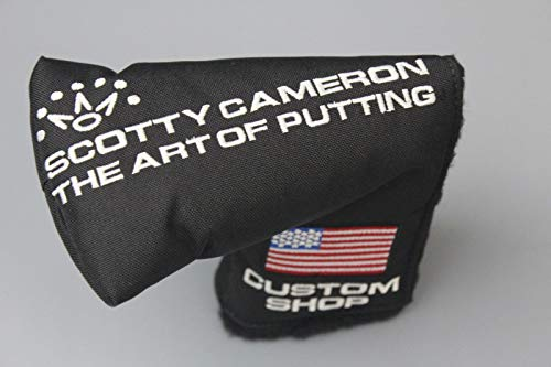 Scotty Cameron Authentic Custom Shop Putter Headcover - Black Nylon US-Flag - Mid Mallet Style